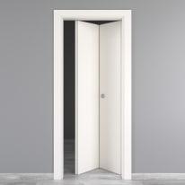 Porta da interno pieghevole Moma laccato bianco 80 x H 210 cm dx