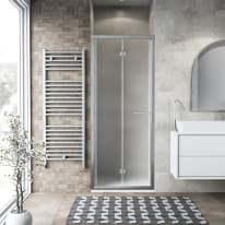 Porta doccia Record 97-101, H 195 cm vetro temperato 6 mm satinato/silver lucido