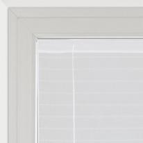 Tendina a vetro regolabile per finestra Klimt bianco 58 x 160 cm