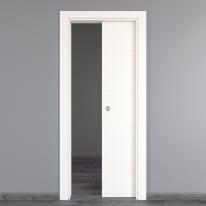 Porta da interno scorrevole Prado bianco 80 x H 210 cm reversibile
