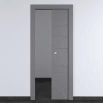 Porta da interno scorrevole Wind Ash cenere 70 x H 210 cm reversibile
