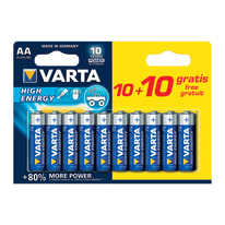 Pila alcalina stilo AA Varta High energy 10+10 Free