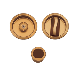 Maniglia per porta scorrevole tonda con nottolino, senza serratura