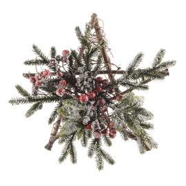 Fuoriporta stella con rami e bacche, 30 cm