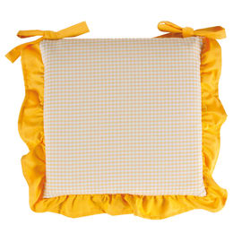 Cuscino per sedia sfoderabile double face Country giallo 40 x 40 cm