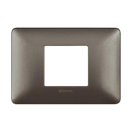 Placca 2 moduli BTicino Matix iron