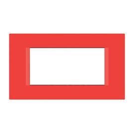 Placca 4 moduli FEB Flat rosso n°3