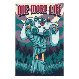 """Poster Gamer - """"One more life"""" 61 x 91,5 cm"""