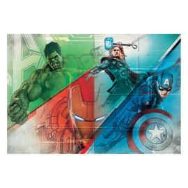 Fotomurale Avengers graphic multicolor 254 x 368 cm