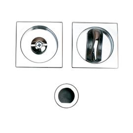 Maniglia per porta scorrevole quadra con nottolino, senza serratura