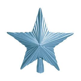 Puntale stella 5 punte azzurro 21,5 x 22 x 5 cm