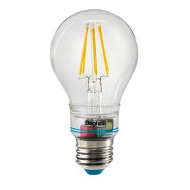Lampadina LED Beghelli Zafiroled E27 =60W sfera luce calda 360°