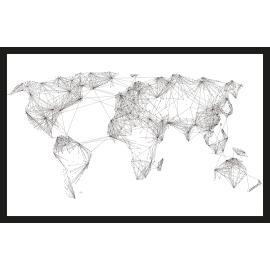 Quadro in plexiglass World map 42x63