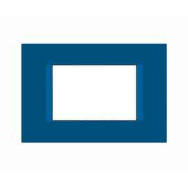 Placca 3 moduli FEB Flat blu n°1