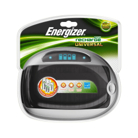 Caricatore universale AA, AAA, C/D, 9V Energizer universal charger