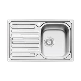 Lavello incasso Amaltia L 79 x P  50 cm 1 vasca DX + gocciolatoio