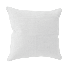 Cuscino 100% lino bianco 45 x 45 cm