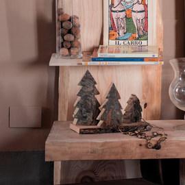 Sagoma decorativa a forma di albero legno L 6 x P 6 x H 40 cm grezzo