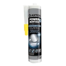 Colla di montaggio e fissaggio effetto chiodo Power Montage Axton trasparente 290 ml