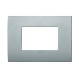 Placca 3 moduli Vimar Arké silver matt