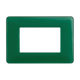 Placca 3 moduli BTicino Matix smeraldo