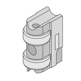 Accessori con cilindro sagomato universale da infilare, reversibile