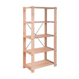 Scaffale legno Evolution 5 ripiani L 76,7 x P 43 x H 174,2 cm