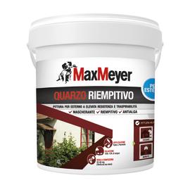 Pittura al quarzo per esterno antialga ad alto riempiento Max Meyer bianco 4 L