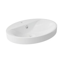 Lavabo da appoggio ovale 0100 ø 54 x 13 cm