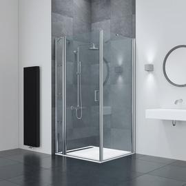 Box doccia battente Frameless 75-80, H 195 cm cristallo 6 mm trasparente/silver