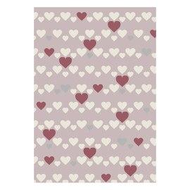 Tappeto Heart kids rosa, rosso 60 x 120 cm