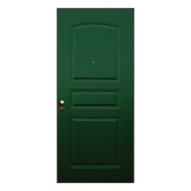 Porta blindata Aluminium verde L 90 x H 210 cm sx