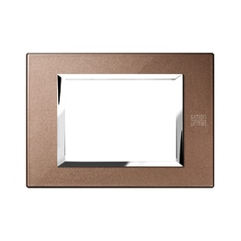Placca 3 moduli Simon Urmet Nea Expì bronzo lucido