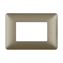 Placca 3 moduli BTicino Matix titanium