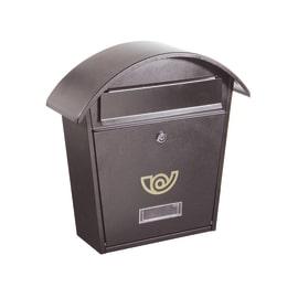 Cassetta postale singola Chalet colore grigio ghisa, formato rivista, L 36,5 x H 37 x P  12 cm