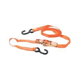 2 cinghie di ancoraggio con cricchetto 4,5 m 25 mm completa di gancio a S