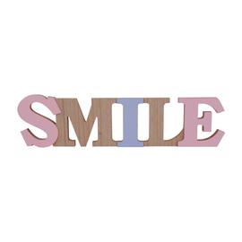Scritta Smile MDF 45x11