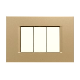 Placca 3 moduli FEB Flat oro