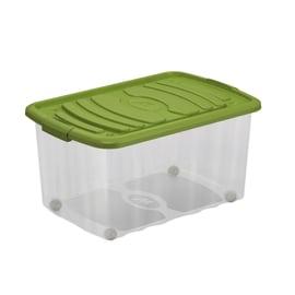 Scatola Roll Box L 59 x P 39 x H 30 cm trasparente/verde