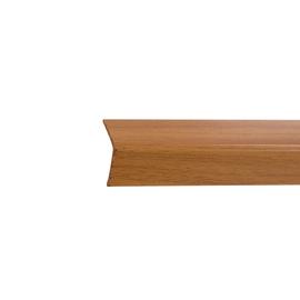 Paraspigolo PVC pellicolato noce chiaro 2,5 x 24 x 3000 mm