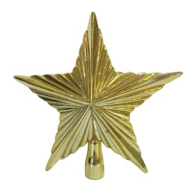 Puntale stella 5 punte oro 25 cm