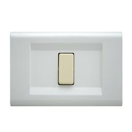 Placca 1 modulo FEB Laser bianco
