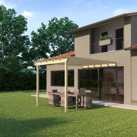 Pergole porticati e pergolati in legno prezzi e offerte for Costruire una tettoia addossata