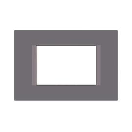 Placca 3 moduli FEB Flat grigio sasso n°3