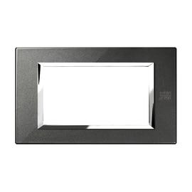 Placca 4 moduli Simon Urmet Nea Expì nero grafite