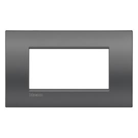 Placca 4 moduli BTicino Livinglight Air grigio scuro