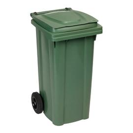 Bidone Carrellato verde satinato 120 L