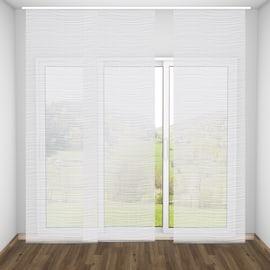 Tenda a pannello Mare linee orizzontali bianco 60 x 300 cm