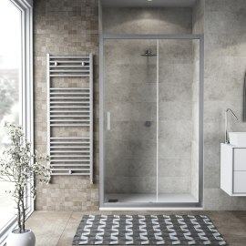 Porta doccia scorrevole Charm 117-120, H 200 cm cristallo 6 mm trasparente/silver