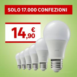 6 lampadine LED Lexman E27 =100W goccia luce calda 200°